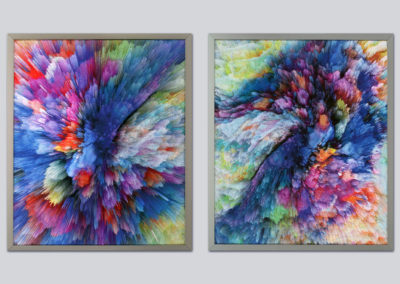 Starburst 1 and 2 diptych