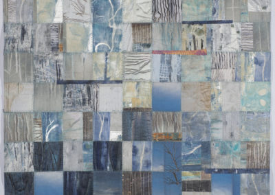Winter Blues: Checkerboard series #2